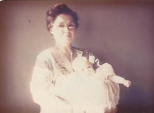 Grandmama Ralph, age 46, and baby Lanita