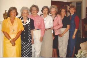 Deba, Lola Mae, Bettie Ruth, Juanita, Onezima (my mother), Mina, Lanita--2002