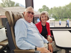 Enjoying our time on the Rocky Mountaineer through the Canadian Rockies