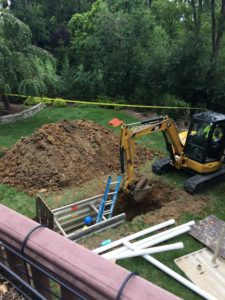 Back yard dig