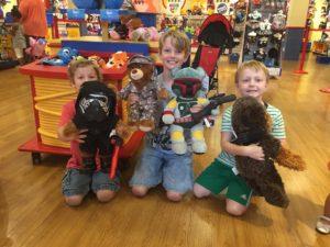 3 boys 4 bears